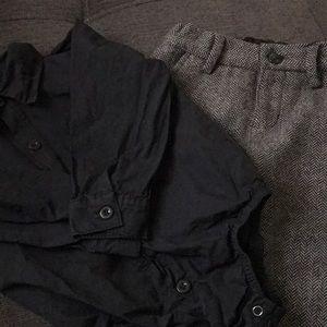 Janie and Jack Wool Dress Pants & Shirt